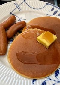 糖質オフパンケーキで朝ごはん