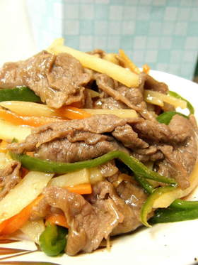 牛肉炒め☆和風味