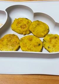 離乳食後期〜☆かぼちゃ米粉パンケーキ