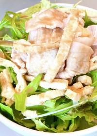 カリッフワッ 豚肉と油揚の冷しゃぶサラダ