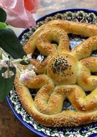 ウズベキスタン♡かわいい花の牛肉パン