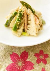 春野菜と胸肉のサラダ☆Wごまミックス