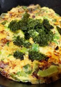 九条ネギ(ネギ)と長芋のチーズ焼き