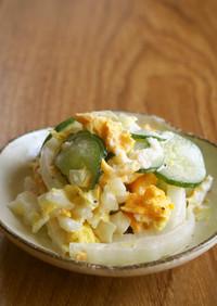 目玉焼きで簡単!白菜・胡瓜とマヨサラダ♪