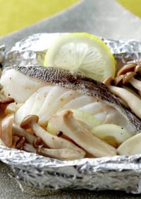 白身魚ときのこのホイル焼き