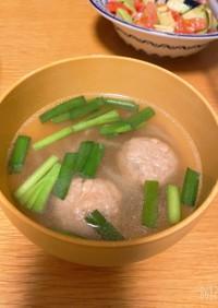 ♡鶏ミートボールのニラもやしスープ♡
