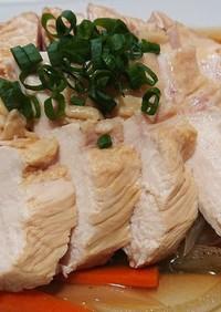 余熱で簡単 茹で鶏の南蛮漬け