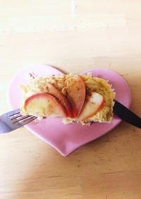 レンジでアップルシナモンプロテインケーキ