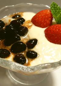 黒酢黒豆+R1豆乳ヨーグルト