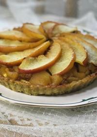 りんごと米粉カスタードオートミールタルト