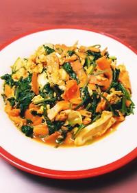 シンプルで簡単◎野菜のケチャップ炒め