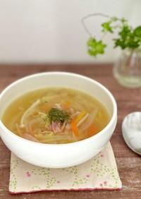 教授直伝!細切野菜の具沢山コンソメスープ
