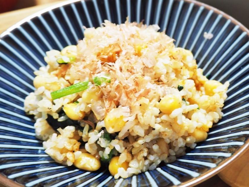玄米の豆チャーハン