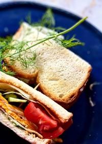 忙しい朝のトーストサンド 夏野菜