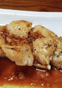 鶏むね肉にんにくソテー。