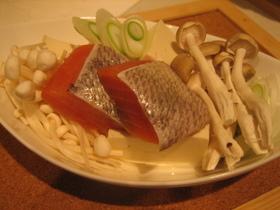 レンジで簡単*鮭と豆腐の小鍋*