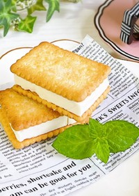 クリームチーズ*アイスビスケットサンド