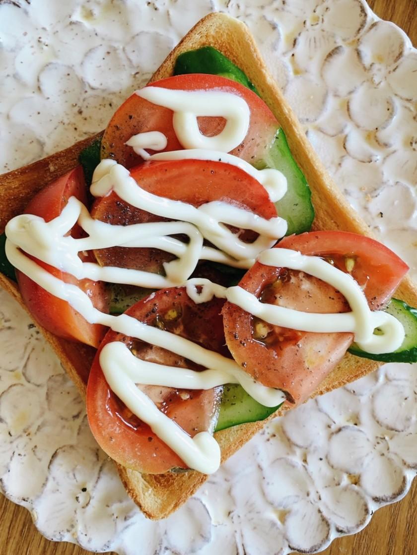 超時短♡忙しい朝のサラダトースト