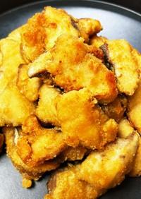 にんにく生姜で漬けるハマチの竜田揚げ
