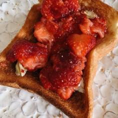超時短♡忙しい朝の生いちごトースト