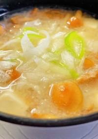 特製♡豆腐となめこのおろし味噌汁♡