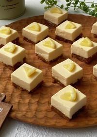 バニラアイスdeひとくちレアチーズケーキ