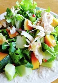 ブロッコリーの芯 チキンと南瓜のサラダ