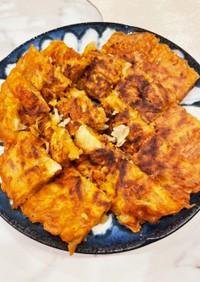 すき焼きの後のうどんキムチーズチヂミ