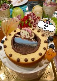 誕生日に。頑張ってる娘のプールケーキ!