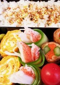 カニカマのきゅうり巻き☆簡単お弁当