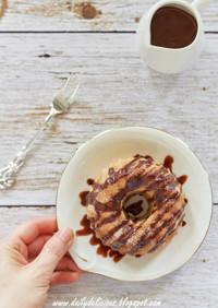 チュロスケーキとチョコガナッシュ