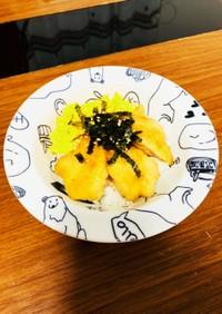 鶏肉の甘辛焼きと炒り卵の丼♡
