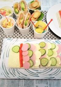 祝! こどもの日・鯉のぼりサンドイッチ