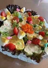 2色ポテトサラダ 1歳誕生日パーティー