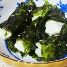韓国海苔で包むだけ、食べやすい冷奴
