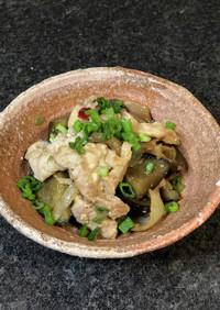 ナスと豚肉のピリ辛生姜焼き