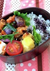 お弁当☆豚肉と茄子のヤンニョム風