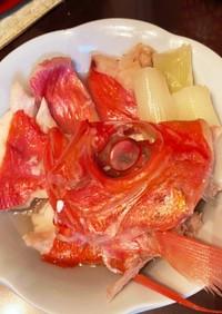 フライパンで金目鯛の塩煮