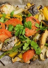 さわらと野菜のオーブン焼き