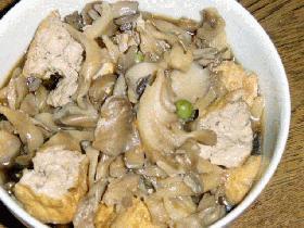 厚揚げと舞茸の煮物