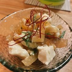 中華クラゲと豆腐の和え物
