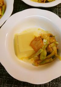 簡単韓国風おつまみ玉子豆腐