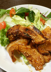 豚バラのハチミツ醤油焼き
