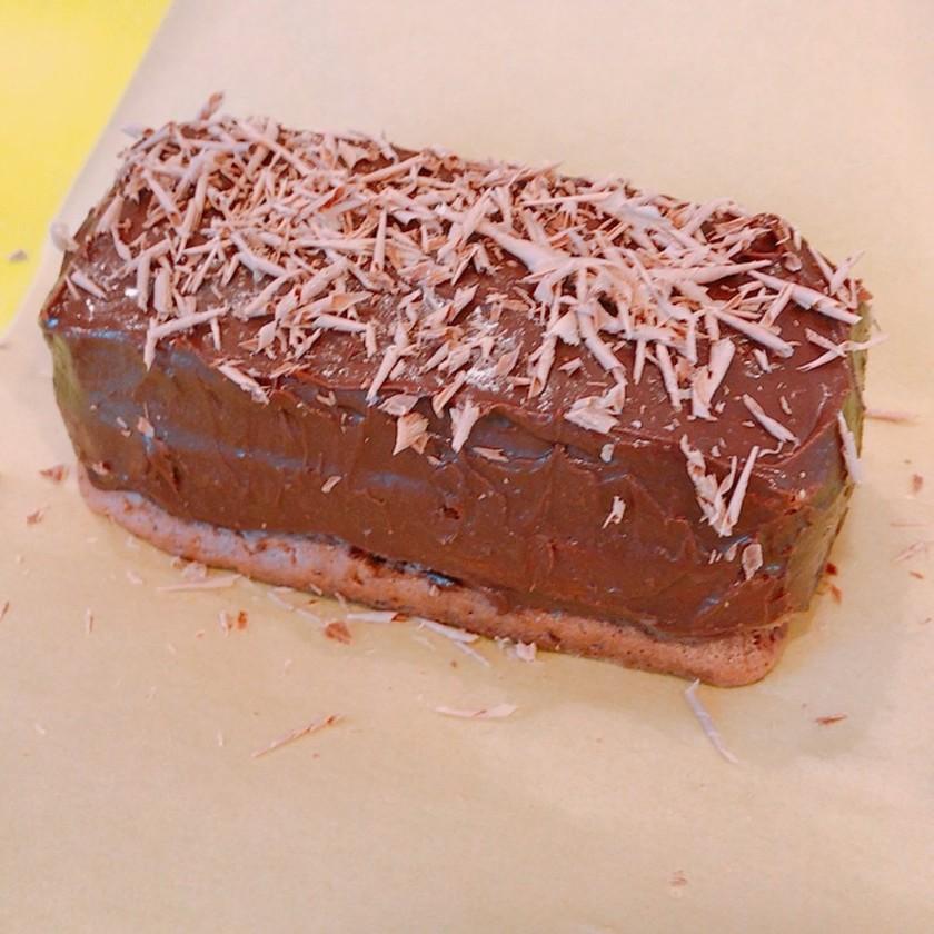 パウンド型で簡単大量、チョコレートケーキ
