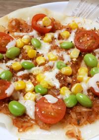 フライパンで簡単!米粉のクリスピーピザ