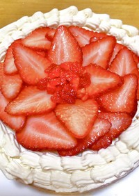 全て手作り♡ヴィーガンショートケーキ