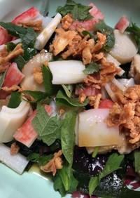 カニカマとベビーホタテの海藻サラダ
