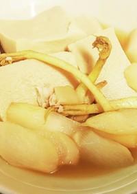 ウドと高野豆腐の炊き合わせ