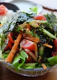 彩り野菜のチョレギサラダ