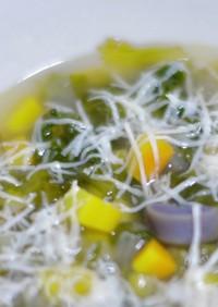 スカローラとカラフル根菜のミネストローネ